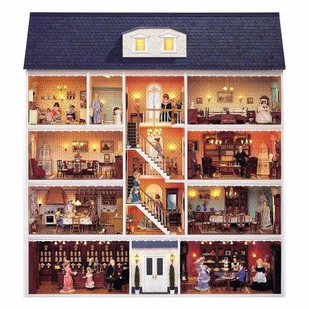 Bauelemente Set - Großes Stadthaus (90320). Das Set enthält - ALLE - Fenster, Türen sowie die Treppe für den zugehörigen MDF Holzplatten Bausatz (90350).