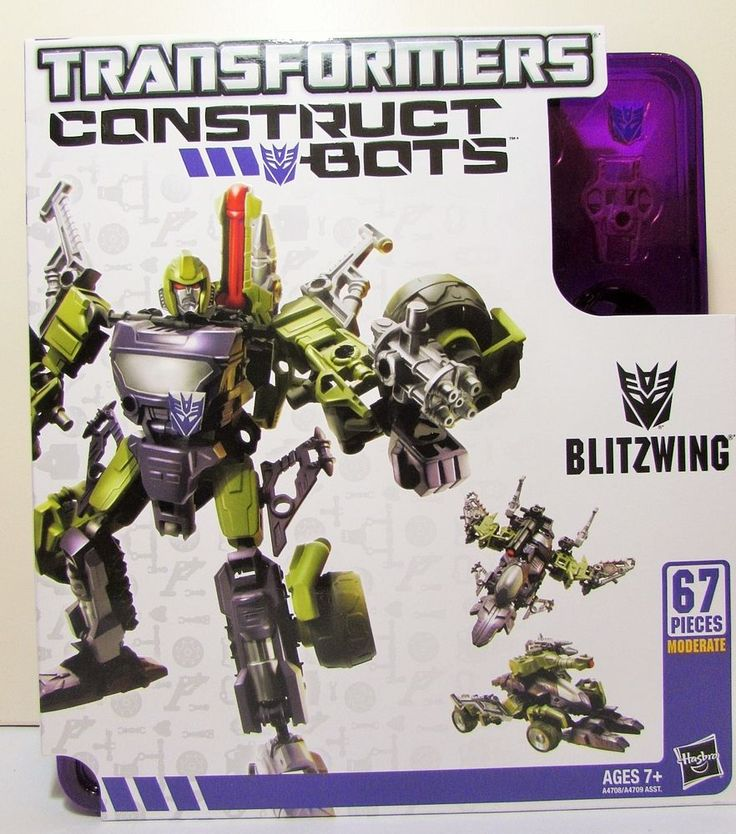 Transformers Construct Bots BLITZWING Hasbro 67 Pieces 7+ Triple Changers Toy