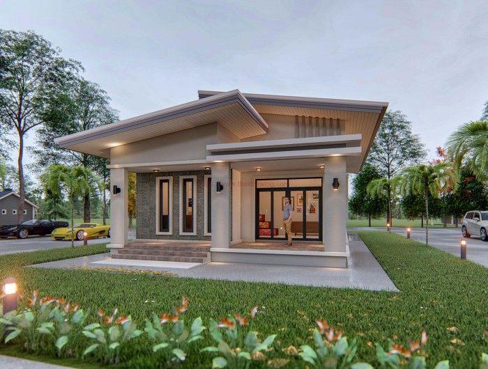 แบบบ านโมเด ร นหล งคาทรงป กนก ขนาด 3 ห องนอน 2 ห องน ำ Minimal House Design House Exterior Small House Design Philippines