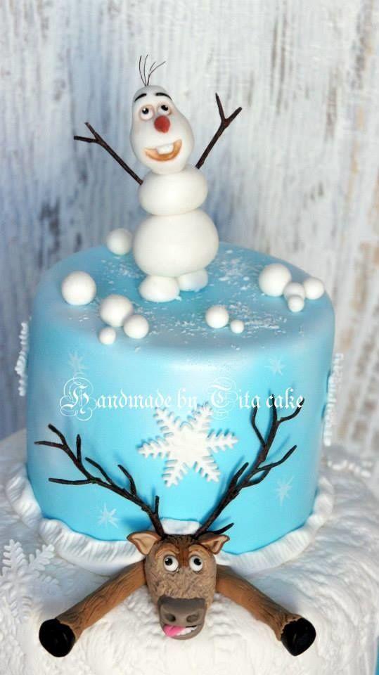 Frozen cake olaf sven fondant nice