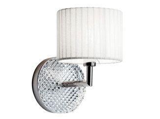 Luminária de parede de metal cromado DIAMOND SWIRL | Luminária de parede - Fabbian
