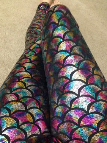 Silver Rainbow Mermaid Legging