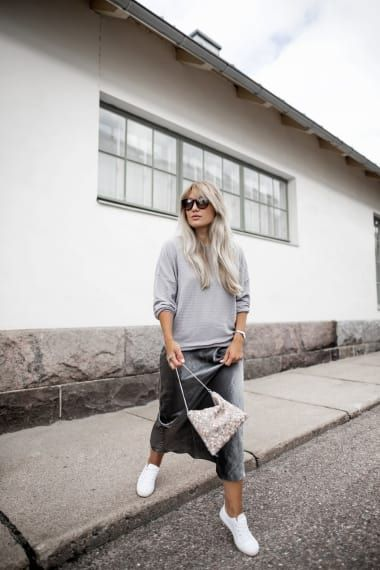 Cozy Outfit from sofiasmode with Tod's Sunglasses, Selected Sweatshirts, Boohoo Intimates, Jimmy Choo Shoulder Bags, NA-KD Sneakers