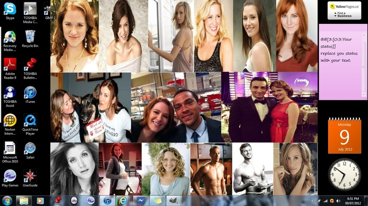 Talk about the most AMAZING backround EVER!!! list of people in it  Sarah Drew and Utterback  Jesse Williams and Eric Dane  Kim Raver and Jessica Capshaw  Kate Walsh and Chyler Leigh  and finaly Brooke Smith and Ellen Pompeo!!! <3