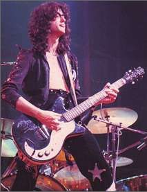 Page with his Danelectro