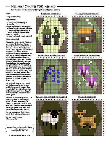 Ravelry: Hexipuff Charts: Tiny-Owl-Knits-Inspired pattern by Jennifer Fabian