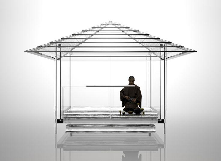 """吉岡徳仁 ガラスの茶室 – 光庵 """" TOKUJIN YOSHIOKA Glass Tea House """""""
