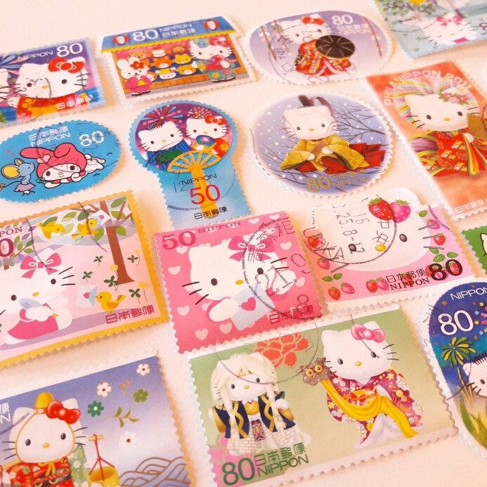 New Japanese stamps available this weekend 😊 #stamps #helloKitty