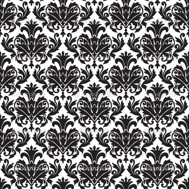 Black White Damask Wallpaper 1110 HD Wallpapers Res