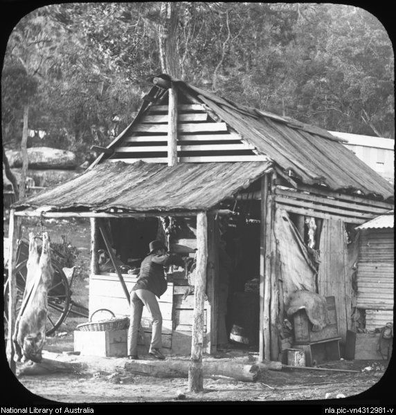 Bush store, Peat's Ferry, Hawkesbury River, New South Wales, ca.1887. Hawkesbury history. NSW