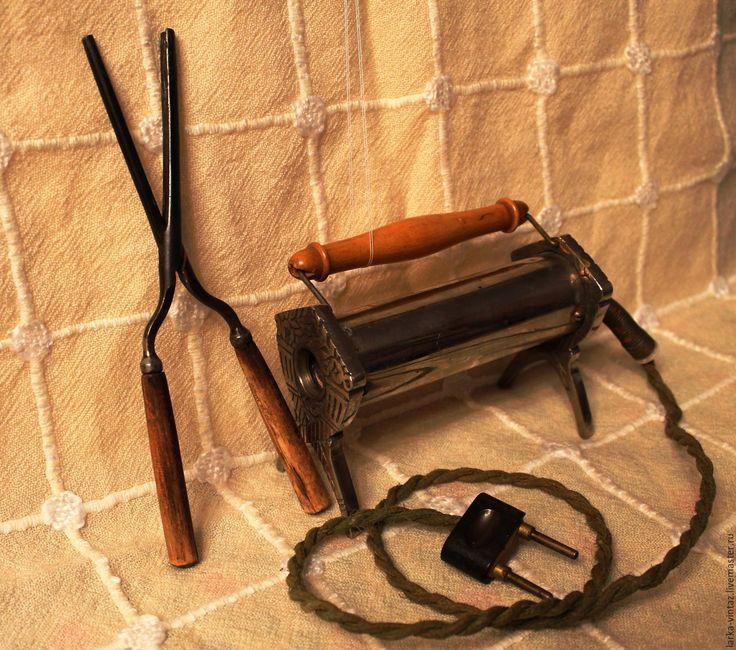 Купить Антикварные щипцы для завивки волос, старинная переносная печь - коричневый, щипцы