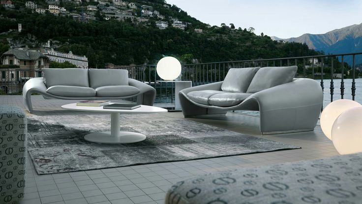 Contemporary defining leather Seagull sofa from Chateau d'Ax - stunningly unique and made in Italy with pride and top quality materials. contemporarylifestyles.com/chateau-d-ax-seagull-sofa.html #LeatherSofa #MadeInItaly