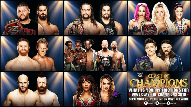 WWE Clash of Champions 2016 Match Card Predictions by HADIALI on ...