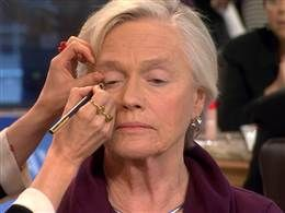 """Glam-mas: Makeup tutorial for seniors goes viral In a world of anti-aging ads and Botox, makeup artist Lisa Eldridge recently posted a makeup tutorial to help older women embrace their age, which some seniors are calling """"a psychological facelift."""" NBC's Michelle Kosinski reports, and Eldridge makes over several seniors. Click here to watch it."""