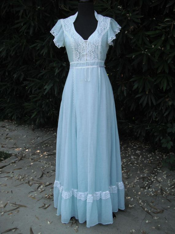 Original 1970's Gunne Sax Powder Blue Dress / by KlassyKlassics