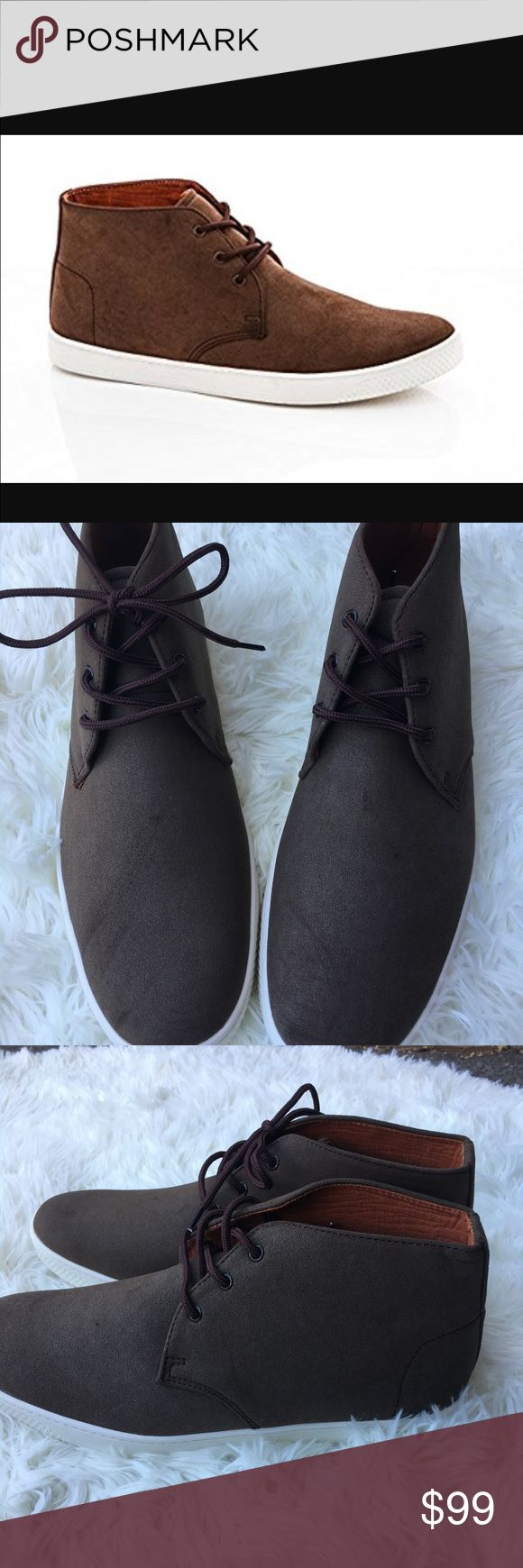 Franco vanucci men's suede chukka boot New in box. The shoes got style and comfort. Ankle high chukka will complement any casual or work occasion and cradle your feet the whole time. franco vanucci Shoes Chukka Boots