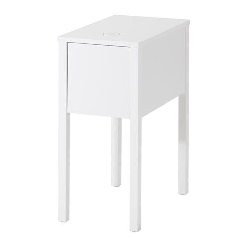 NORDLI Nightstand with hole for charger  - IKEA