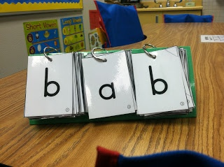 Phonics Flip Book - these would be easy to make and would really help struggling readers