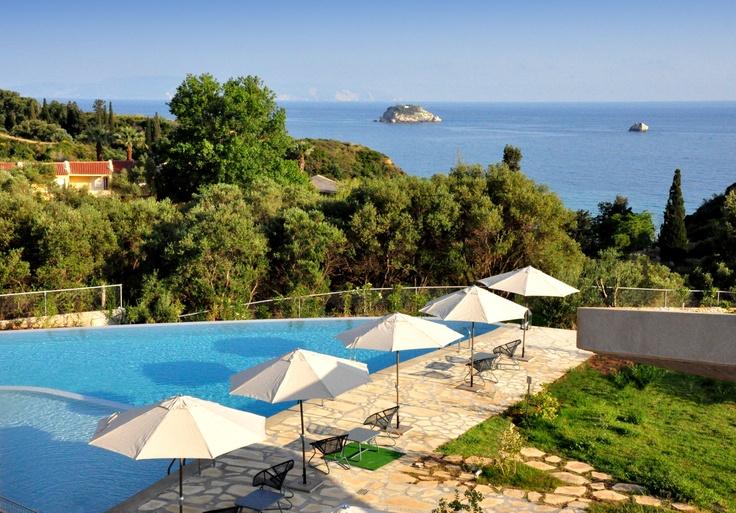 Leivatho Hotel Swimming Pool View