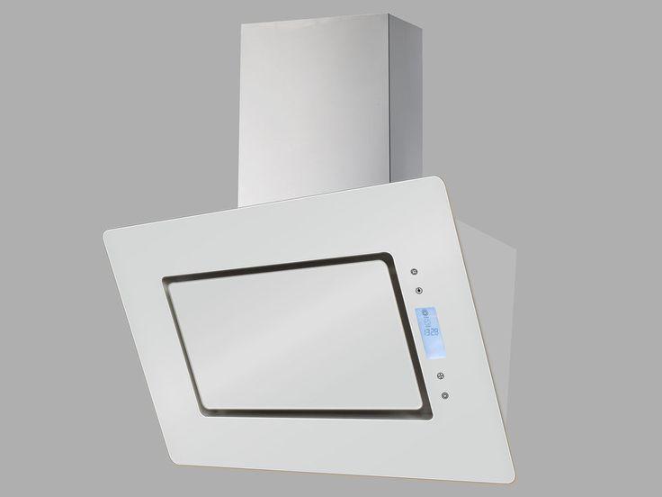 respekta Schräghaube Dunstabzugshaube kopffrei Glas 90 cm weiß Touch LED EEKL A in Haushaltsgeräte, Backöfen & Herde, Dunstabzugshauben   eBay!