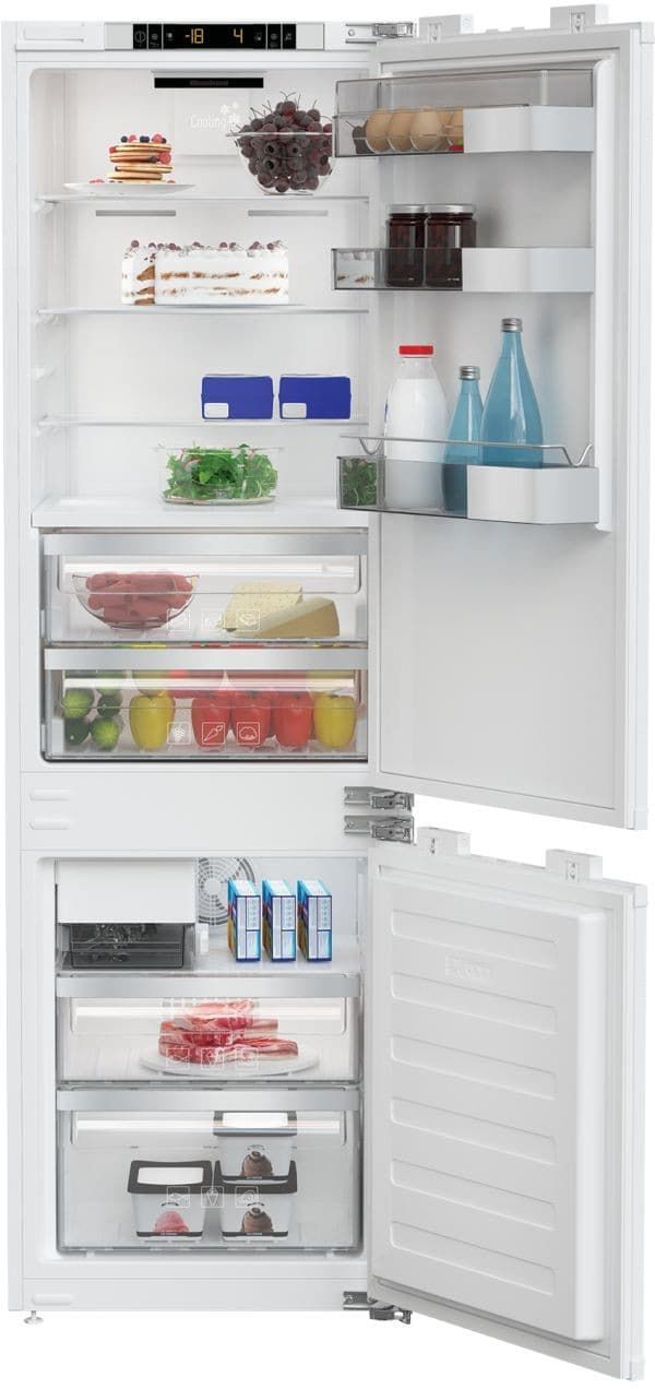 Blomberg BRFB1052FFBI 22 Inch Panel Ready Built-In Bottom Freezer Refrigerator with Antibacterial Seal, Ice Maker, Hygiene+ Antibacterial Carbon Air Filter, Adjustable Glass Shelving, Egg Tray, Fast Freeze Setting, ENERGY STAR and 10.6 cu. ft. Capacity