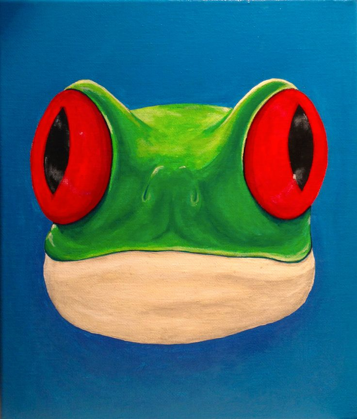 """King Frog"" by Ray Robinson is such a fun piece - Acrylic on canvas - this work available for offers - see more fabulous colourful work by Ray at http://www.artinvesta.com/artist/104 - register today to make an offer - registration is free and easy"