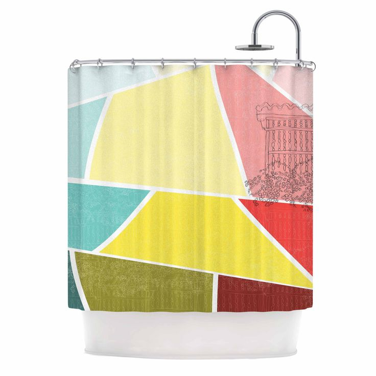 MaJoBV  Cartagena Balconies  Teal Red Yellow Shower CurtainBest 25  Yellow shower curtains ideas on Pinterest   Yellow kids  . Yellow And Teal Shower Curtain. Home Design Ideas