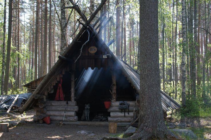 Kota Pyydyskoskella, Salamajärven kansallispuisto, Finland