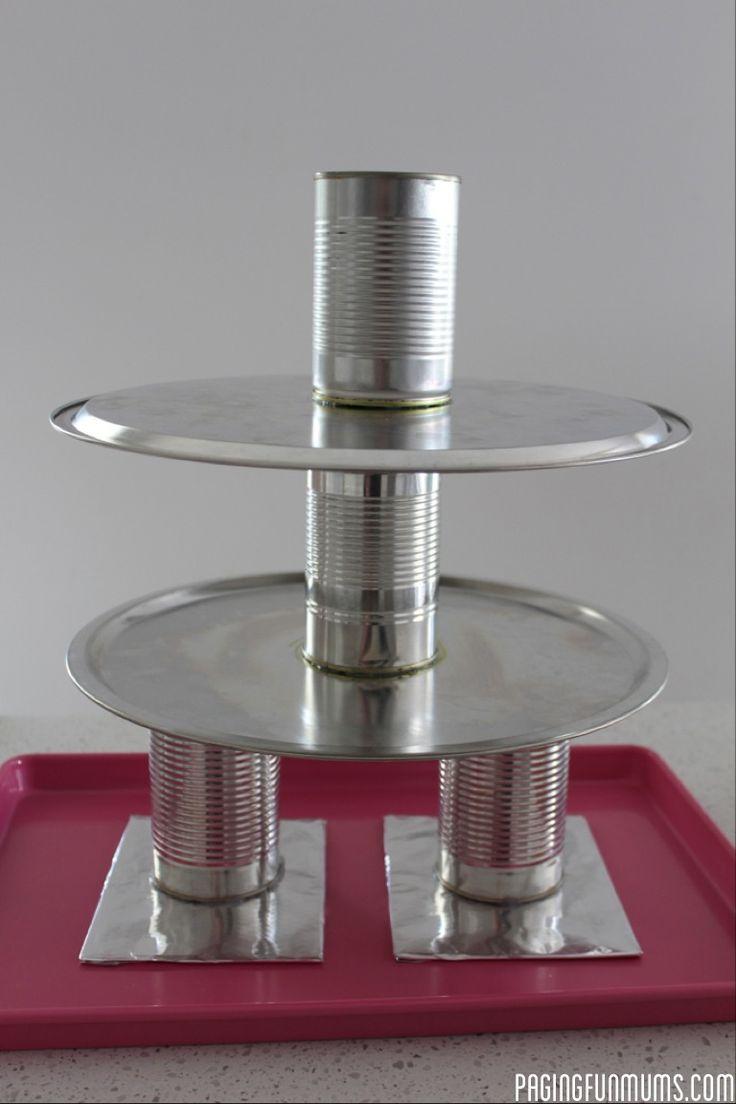 DIY Robot Cupcake Stand!