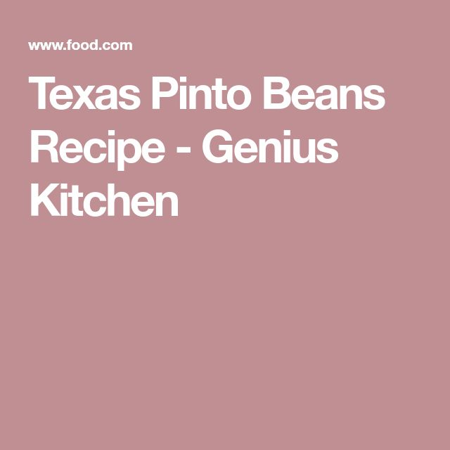 Texas Pinto Beans Recipe - Genius Kitchen