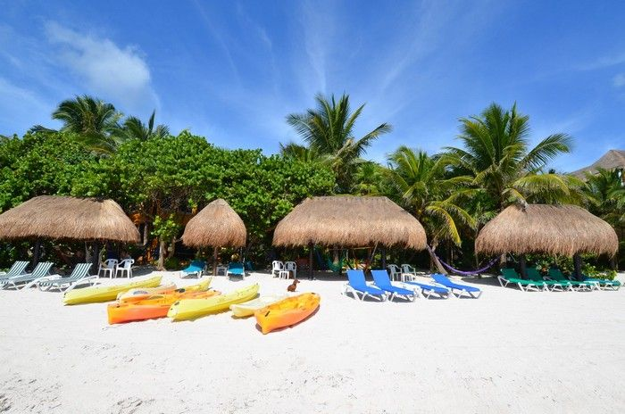 """MEXICO Casa del Corazon Solomon Bay near Tulum DirkLang Feb2016 calm bay, coconuts, hammocks, kayaks, caves, mayan ruins -> Coba - more central, beautiful forests, monkeys, tapirs  """"We were in Soliman Bay, about 10 miles north of Tulum, in the Yucatan area of Mexico Rosa McIver. The place was called Casa Corazon and can be rented through Locogringo.com. Highly recommend this area, especially with kids!"""""""