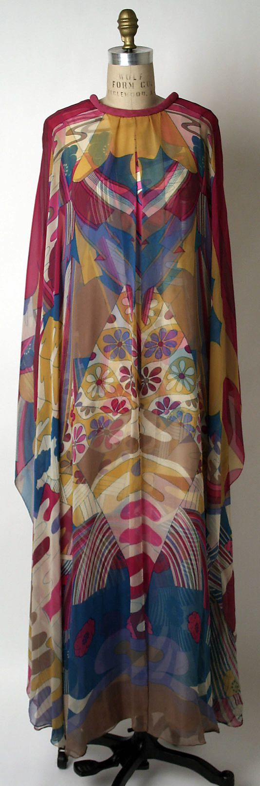 Dress, Evening  Hanae Mori  (Japanese, born 1926)  Date: ca. 1968 Culture: Japanese Medium: silk, rayon Dimensions: Length at CB: 46 in. (116.8 cm)