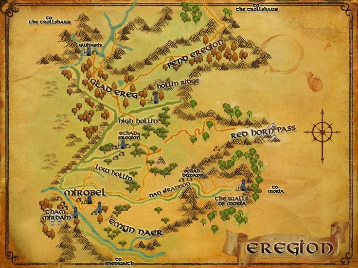 lotro map of eregion gold mapmiddle earth