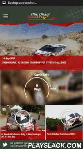 Abu Dhabi Racing  Android App - playslack.com , Abu Dhabi Racing Official App. First of its kind in the region, the innovative new smartphone application allows you to get closer to the action at all the events Abu Dhabi Racing is participating in around the world, including World Rally Championship, Middle East Rally Championship World Endurance Championship and many more.The Abu Dhabi Racing mobile app allows you to stay up-to-date with all the latest ADR news, team information, video and…