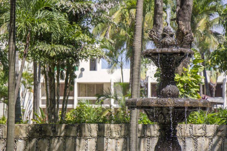 Fuente del Hotel Posada de Tampico.