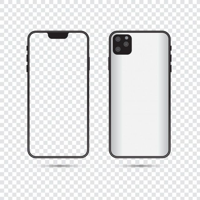 Iphone 11 Mockup Front And Back Vector Mobile Technology Png