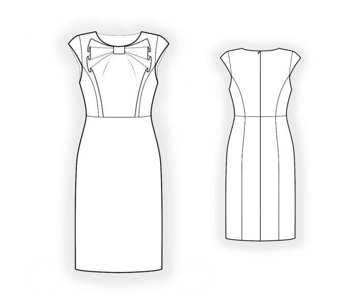 Dress - Sewing Pattern #4409. Made-to-measure sewing pattern from Lekala with free online download.