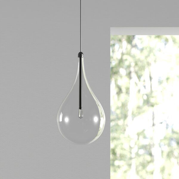 Morrisey 1 Light Single Teardrop Pendant Simple Pendant Light Small Pendant Lights Pendant Light