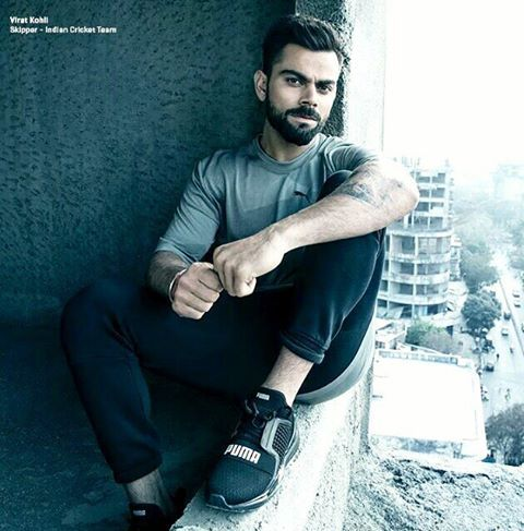 #viratkohli @puma ad shoot another new pic ✔