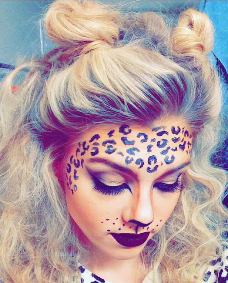 Cheetah makeup for Halloween #cheetahmakeup #halloween #makeup