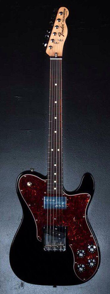 FENDER FSR American Vintage '72 Telecaster Custom Electric Guitar - Black | Small White Mouse