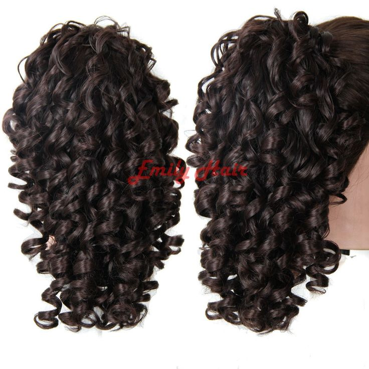 Curly Ponytail 21 Inch Long Hairpiece Claw Clip Ponytail Hair Extensions False Hair 4 Colors Tails of Hair -  http://mixre.com/curly-ponytail-21-inch-long-hairpiece-claw-clip-ponytail-hair-extensions-false-hair-4-colors-tails-of-hair/  #Ponytails