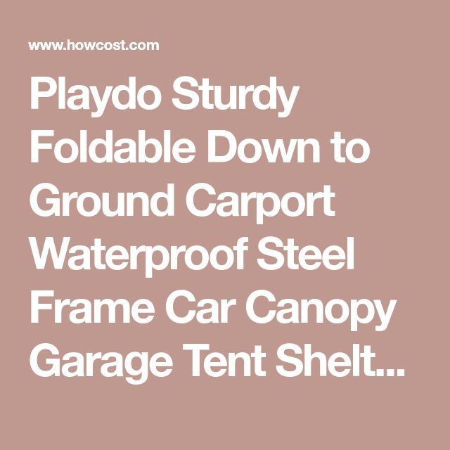 Playdo Sturdy Foldable Down to Ground Carport Waterproof Steel Frame Car Canopy Garage Tent Shelter for Cars Protection,One size Fits Most Brand Cars