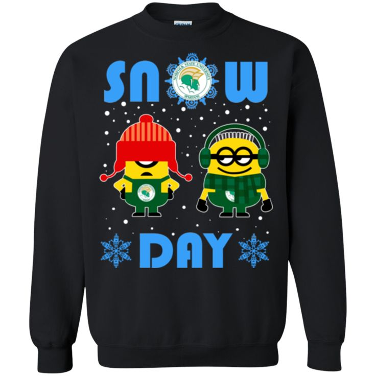Minion Norfolk State Spartans Ugly Christmas Sweaters Snow Day Snowflake Sweatshirts
