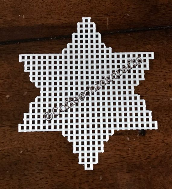 Hanukkah Star of David Plastic Canvas Cut Out by CoffeeChickCrafts