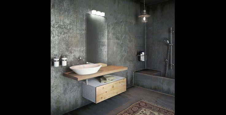 Novel bathroom furniture Top Natural Wood