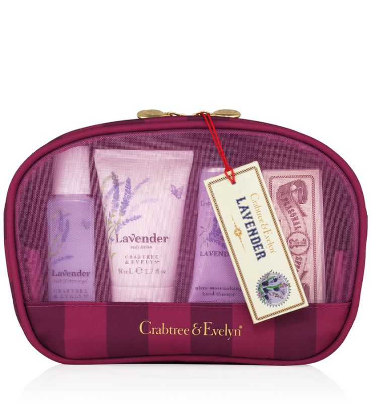Tucked inside this festive travel bag is an elegant collection of essential luxuries to keep hands and skin cleansed and conditioned on the go—plus a nail buffer for pampering those tips pretty. For the spectacular holiday season and beyond, our Lavender Traveller is the most delightful toiletry kit imaginable.