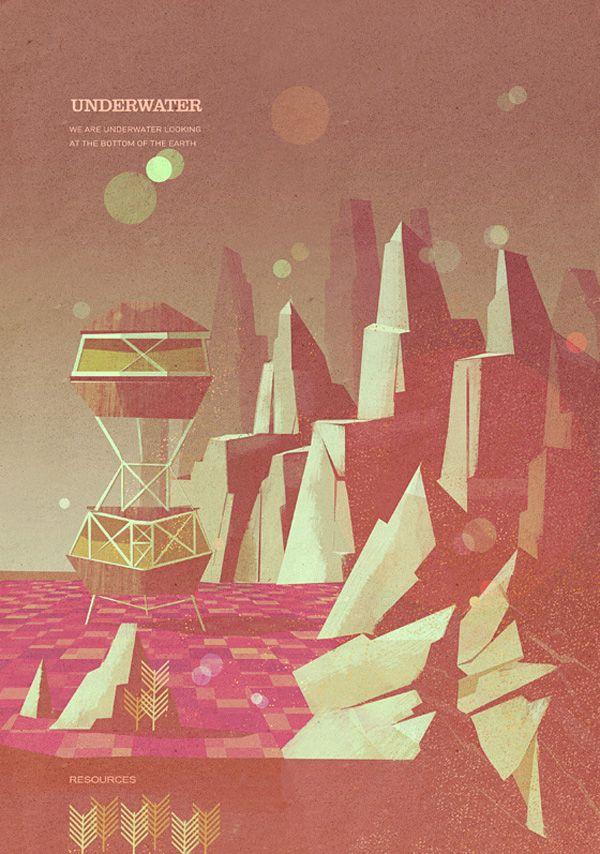 Matthew Lyons Retro-Futuristic Illustrations