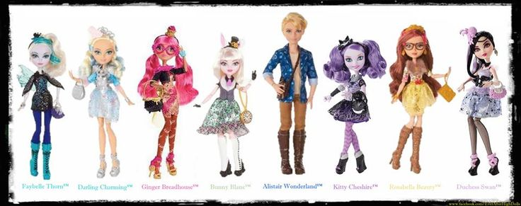 From the Ever After High Facebook page: Eight new ...