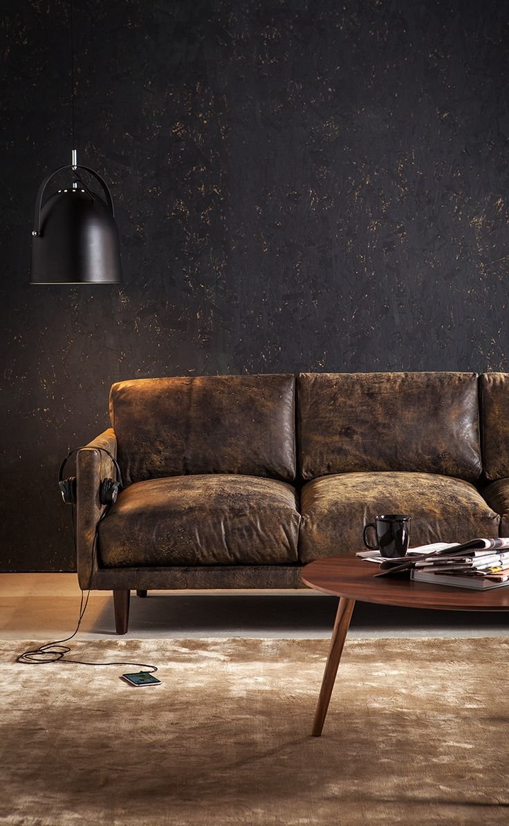 Dark Brown Leather Sofa   Upholstered | Article Nirvana Modern Furniture